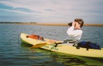 DeLene kayaking in Cedar Key, Fla. Image by Mike Rothwell.