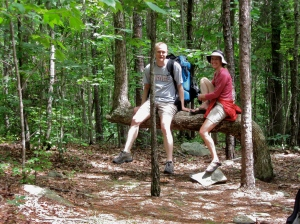 My husband and I, backpacking in the Birkhead Moutnains Wilderness (NC) in 2009.